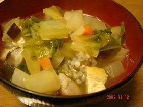 ☆徳島郷土料理☆そば米汁♫♬