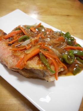 赤魚の甘酢野菜あんかけ