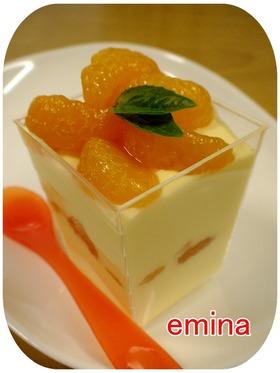 混ぜるだけ~♡♡みかんのレアチーズケーキ