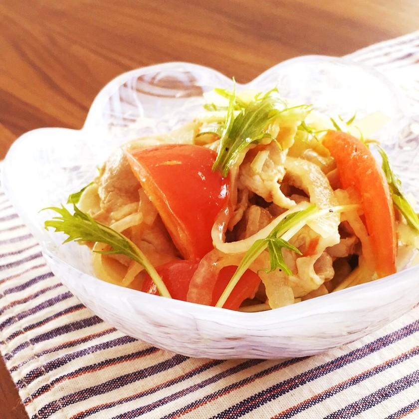 簡単作り置き♪柔らか豚肉とトマトのマリネ