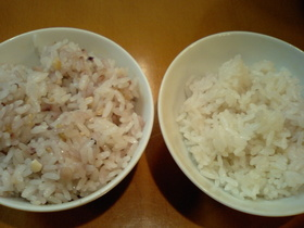雑穀米と白米を同時に炊く方法