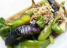 茄子とピーマンの煮浸し(椎茸入り)