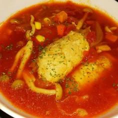簡単!!キャベツの肉巻きトマトスープ