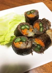 簡単だけどしっかりおかず♫牛肉の野菜巻き