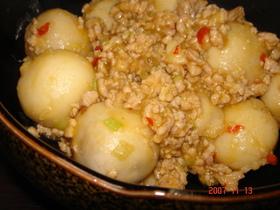 中華風な里芋と鶏ひき肉のトロトロ♪
