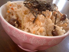 味付メンマDE✿簡単中華風炊き込みご飯
