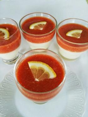 甘酒とトマトのレアチーズ風