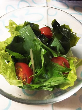 簡単 こんにゃくと海藻のヘルシーサラダ