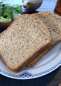 ライ麦と全粒粉のふわふわ低GI食パン