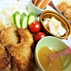 揚げずに【ヒレカツ・にんにくバター醤油】