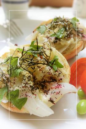 わさび*紫蘇香る❀新玉葱の和トースト