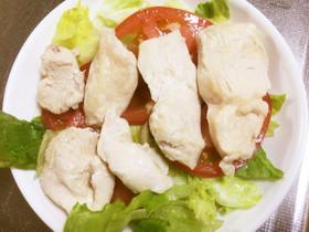 超楽々 レンジでチン、酒蒸し鶏作ります。