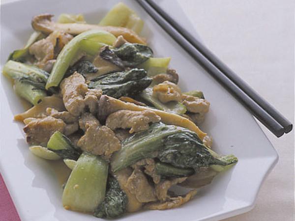 豚肉と青梗菜のみそ炒め