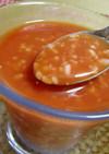 ★朝から手作りの甘酒入りトマトジュース♪