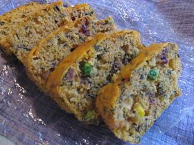 野菜とひじきのパウンド美ケーキ