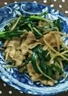 豚肉とモヤシとニラの炒め物