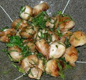 鶏三角の塩焼き、大葉ポン酢風味