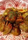 砂肝とマッシュルームのクミン&カレー炒め
