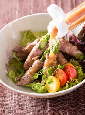 ゆで豚とアスパラガスの梅肉サラダ