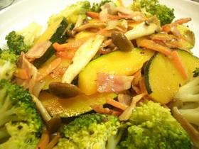 ブロッコリーとカボチャの炒め物