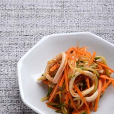 いかとにんじんの韓国風サラダ