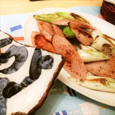 簡単♪おつまみお弁当に。魚にソねぎ炒め♪