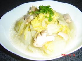 白菜いっぱい蒸し煮