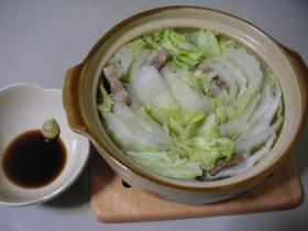 白菜と豚バラのシンプル鍋