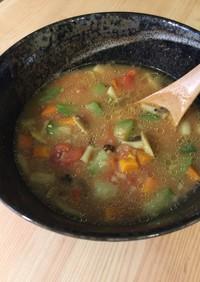 残り野菜一掃 夏野菜のカレー雑炊