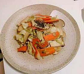 エリンギの野菜の中華味噌炒め