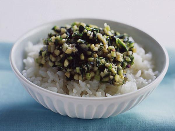 刻み夏野菜のとろとろご飯