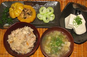 可愛い南瓜の夕食