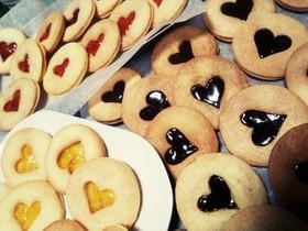 きらきら可愛い ジャムサンドクッキー