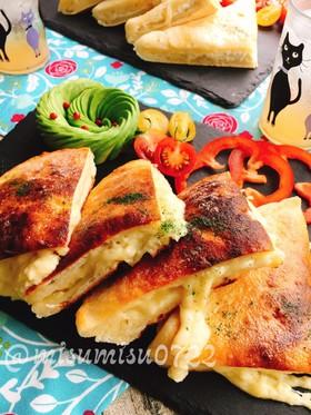チーズとろりんフライパン焼きチーズナン