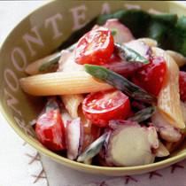 たこと夏野菜のサラダ