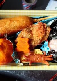 小学生男子のお弁当〜フライドチキン