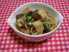 高野豆腐ともやしのマーボ風