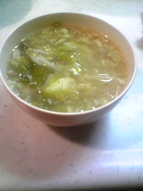 ささみと白菜の酸辣湯