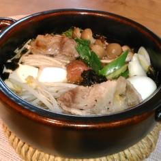 ☆簡単‼ワカメスープで梅鍋☆