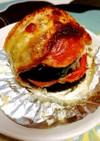 茄子とトマトの段々焼き♪トースターで♪