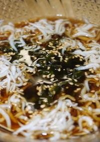 麺類のつけダレ:おろしポン酢にごま油