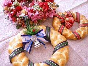 パンのクリスマスリース☆