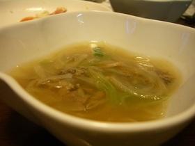 牛肉レタススープ