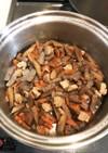 実家の鶏肉とごぼうの混ぜご飯
