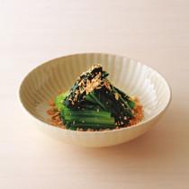小松菜のおひたし カリカリ油揚げがけ
