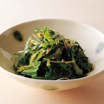 春菊、水菜、ほうれん草 おかか和え