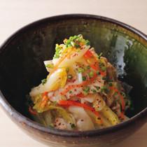 白菜甘酢漬けと豚しゃぶサラダ