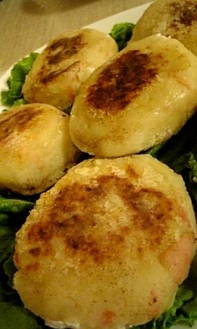 玉ねぎとベーコンのポテトステーキ♥