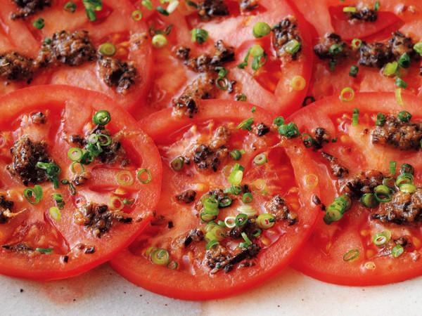 トマトの薄造り 塩昆布生姜ソース