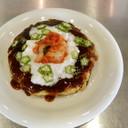キムチと山芋の健康お好み焼